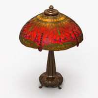 3d 3ds tiffany lamp 3