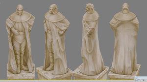 3d statue hero