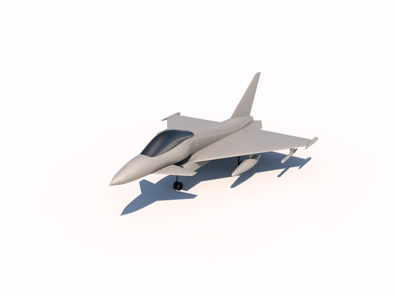 3d model eurofighter 2000