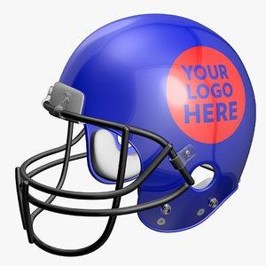 american football helmet c4d