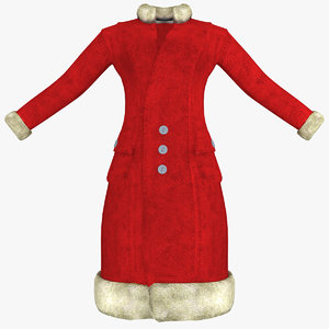 3ds max womens red coat
