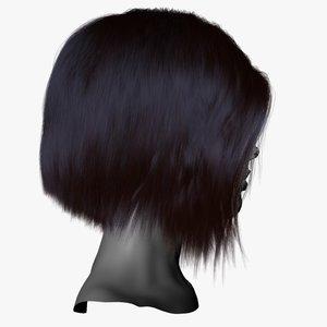 3d model hair short cropped