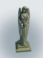 Statue grieving angel