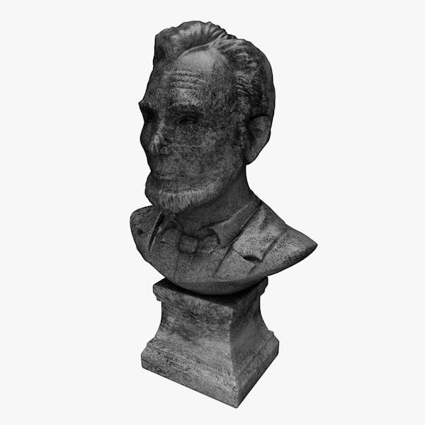 c4d abraham stone bust