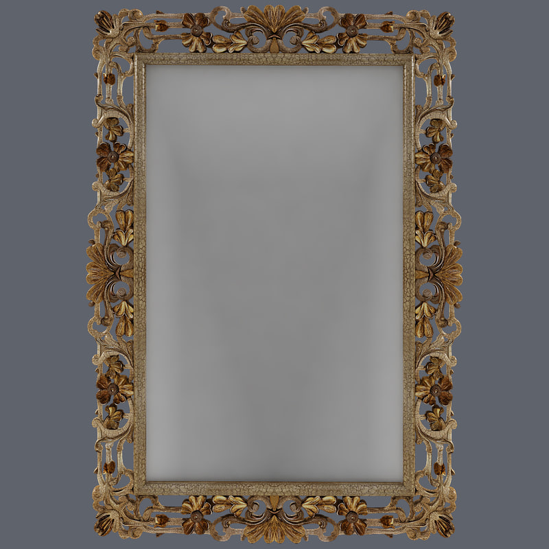 3d carved mirror model
