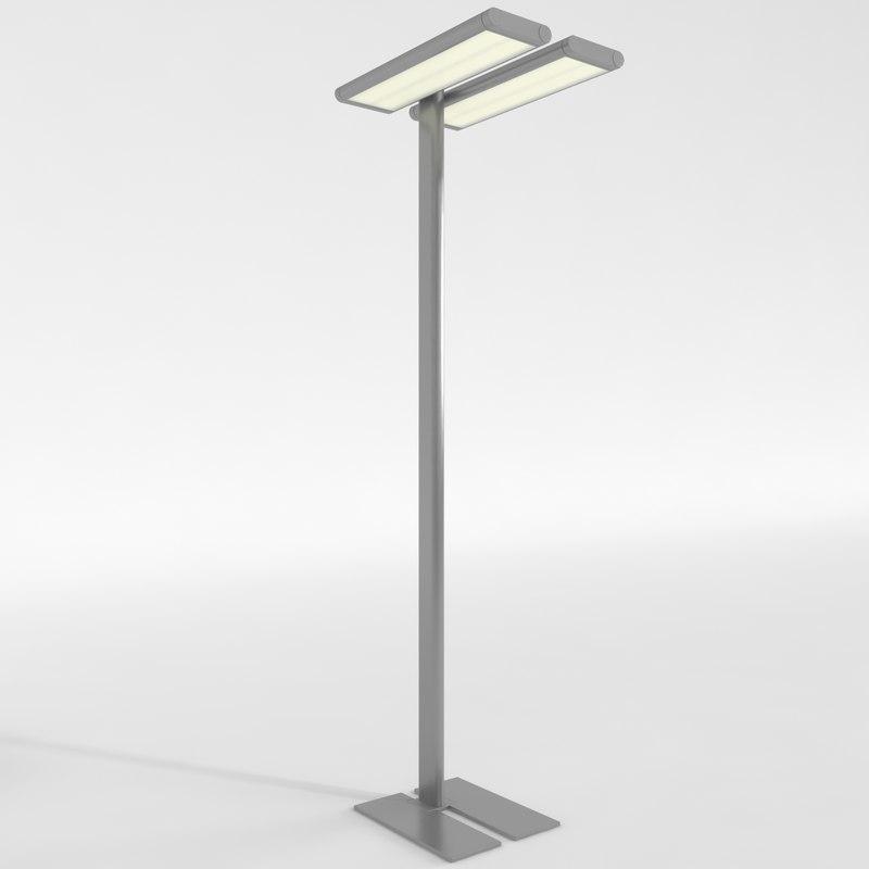 3d model lamp standing work office