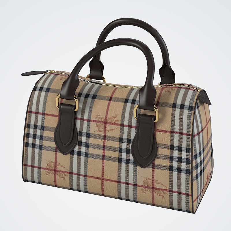 3d burberry women bag model