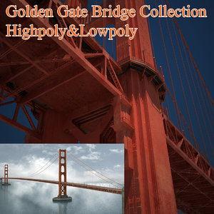 3ds max golden gate bridge architecture