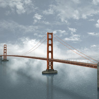 golden gate bridge architecture max