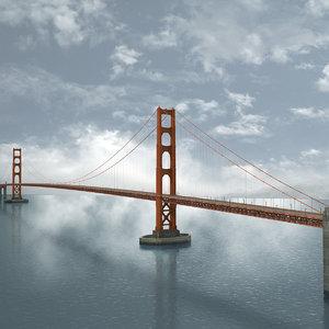 golden gate bridge architecture max