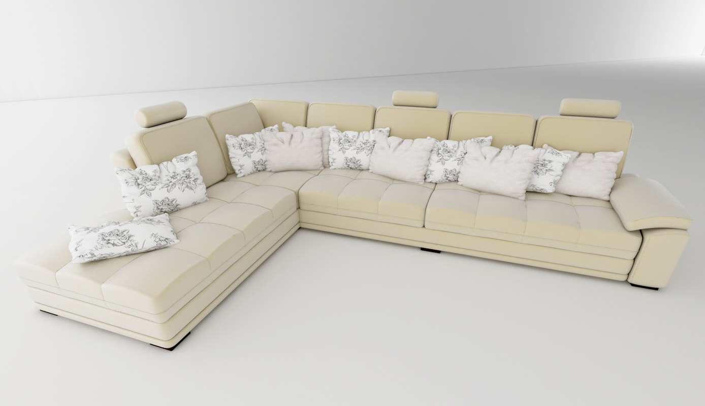 3d minimalistic couch model