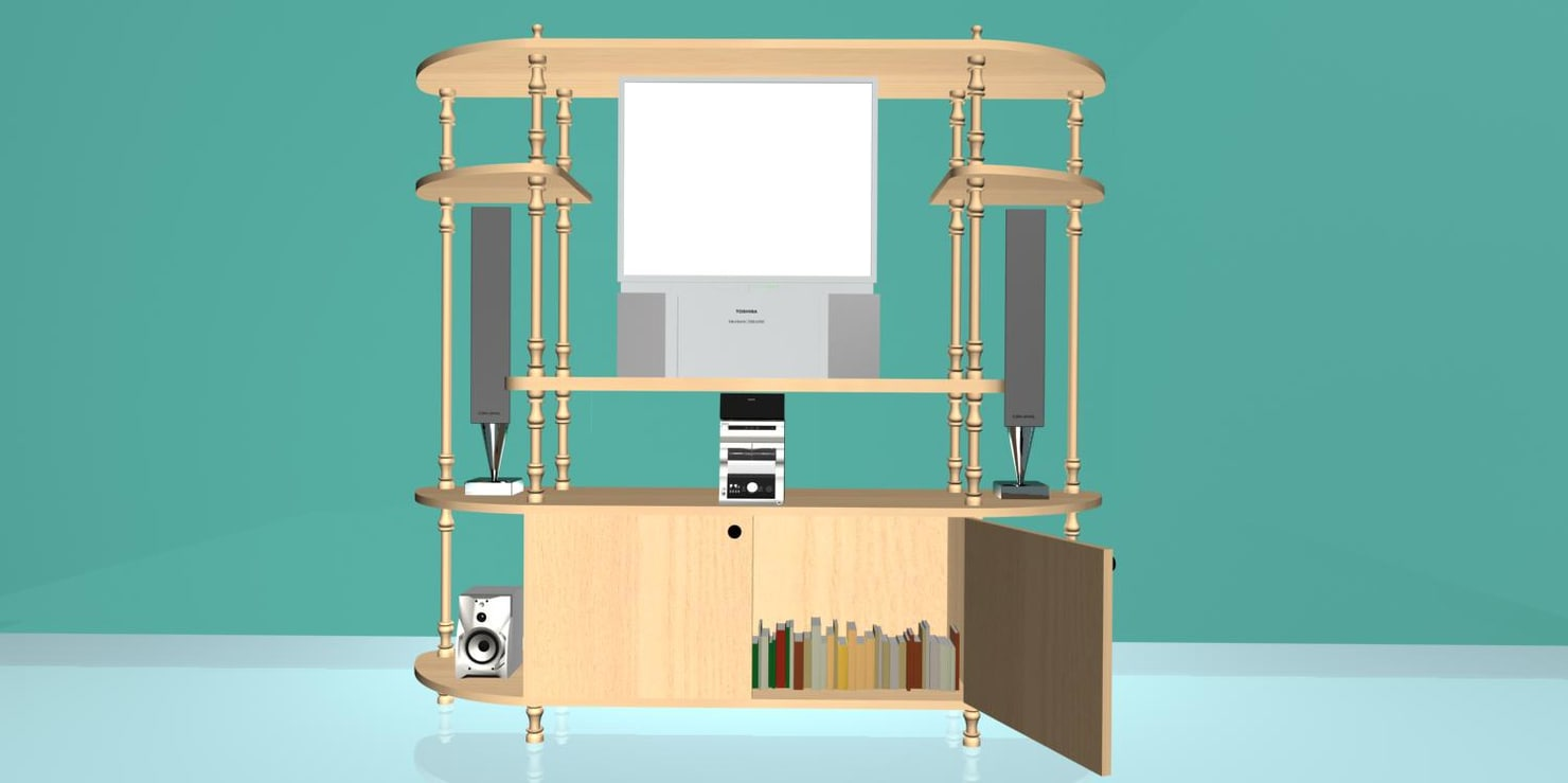 t v stand 3d max