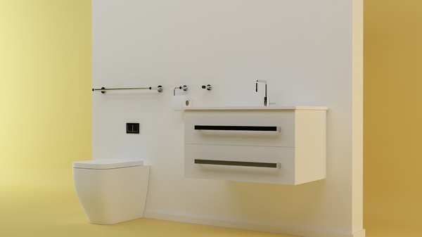 toilet set 3d model