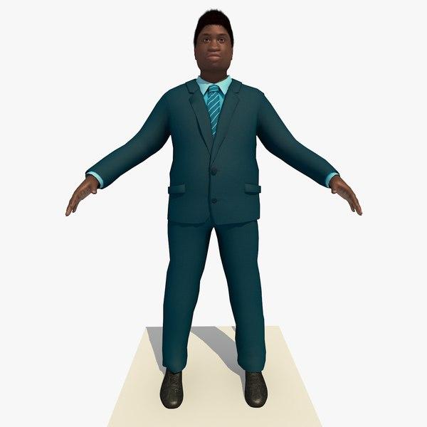 african male business man 3d c4d