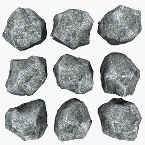 rock mht-04 3d obj