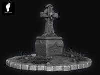 Skull Gravestone 3D