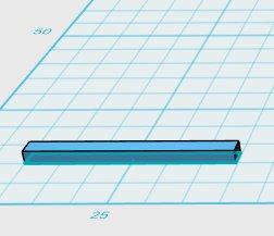 ho scale sleeper tie 3d model