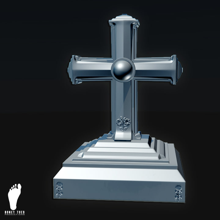 tombstone grave 3d max