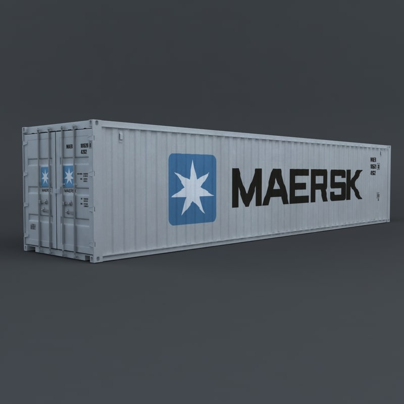 3d cargo iso container maersk model
