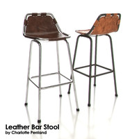 Charlotte Perriand Leather Bar Stool