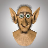 head old man 3d c4d