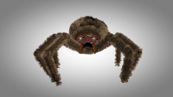 cinema4d brown spider