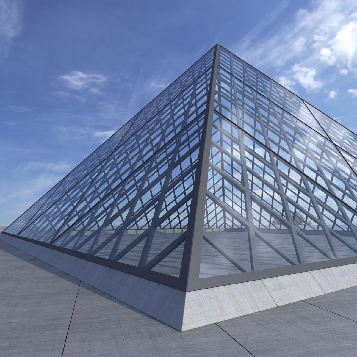 3d model louvre pyramid