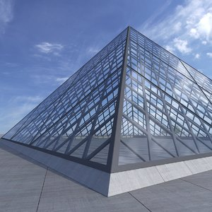 3d model louvre pyramid