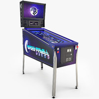 pinball machine space 3d max