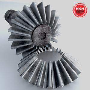 3d gear engrenage