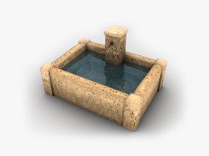 fountain games ready 3d model