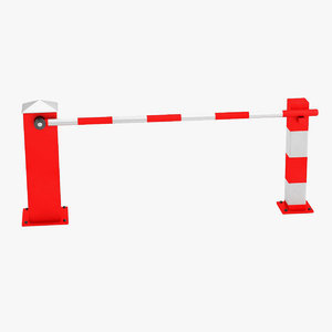 3d model boom gate