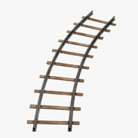3dsmax railroad line bend