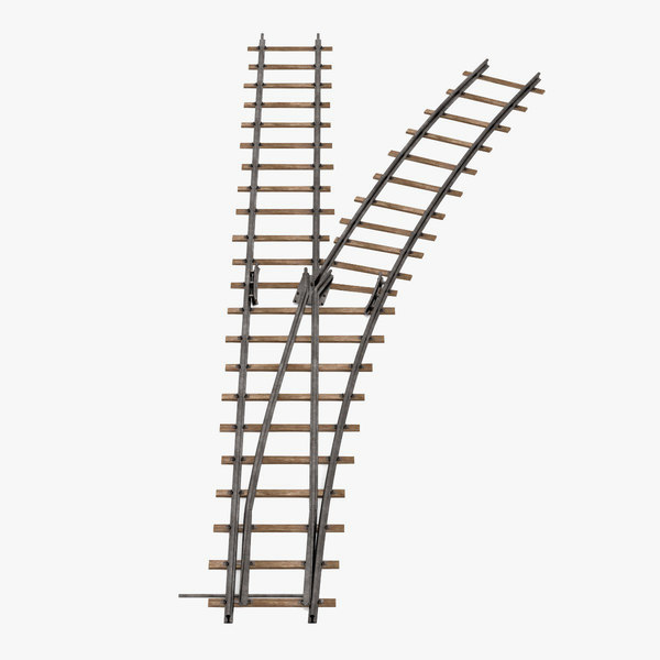 railroad line switch 3d model