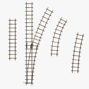 railroad lines track 3d model