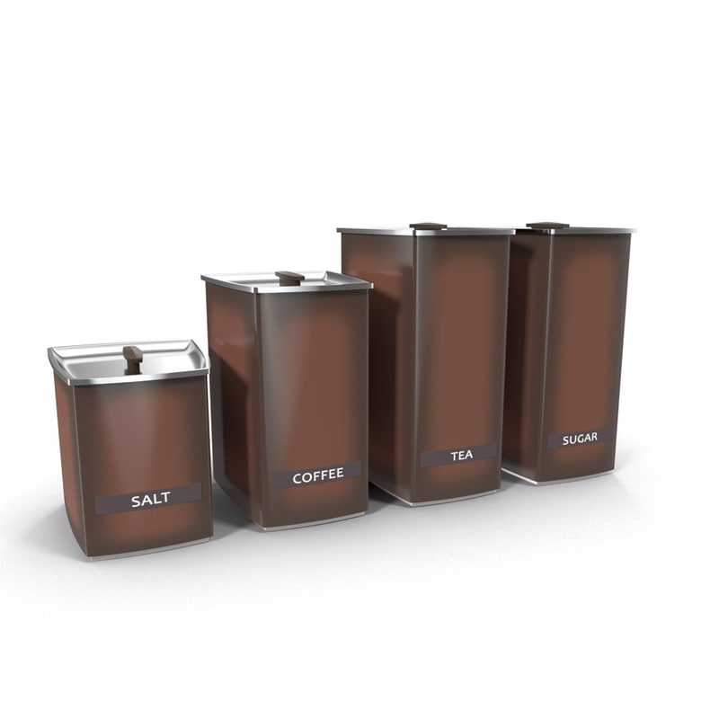 3d model kitchen containers