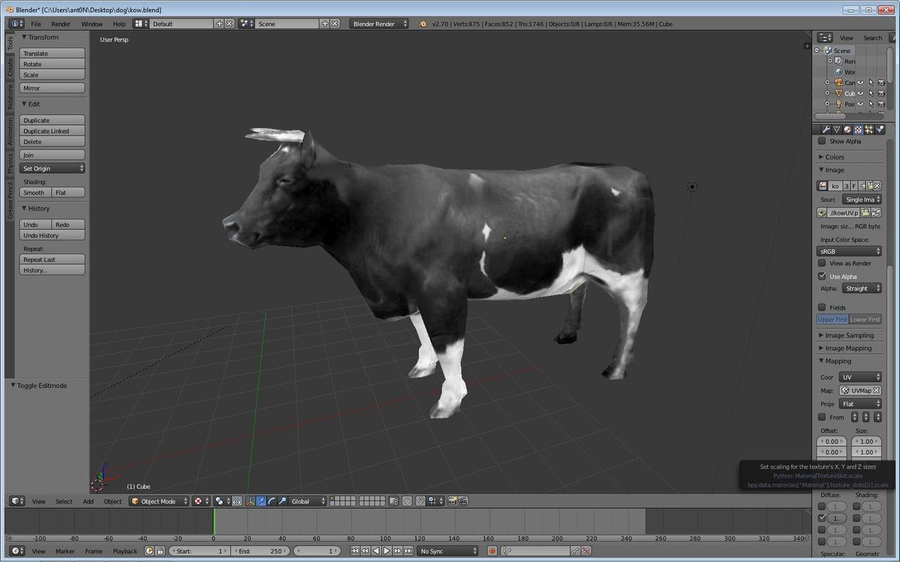 cow games obj