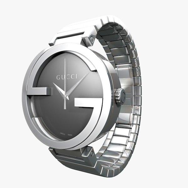 3d gucci interlocking stainless steel model