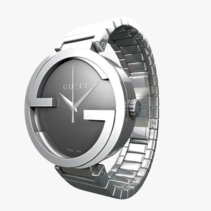 3d gucci interlocking stainless steel model