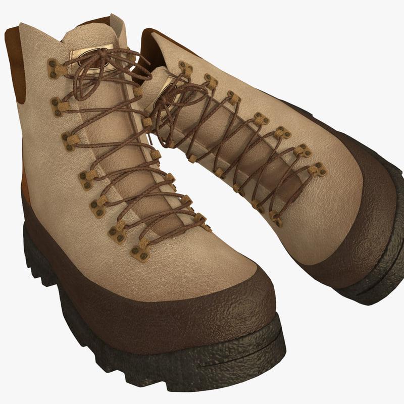3d mens winter shoes model