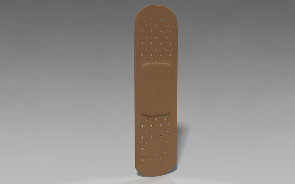 3d model band aid