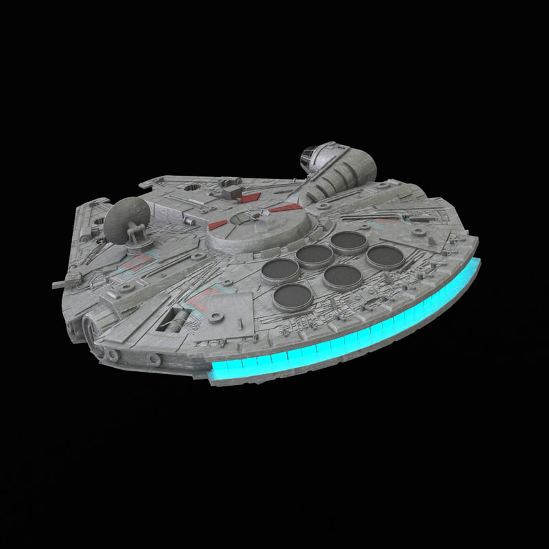 3d model millennium falcon
