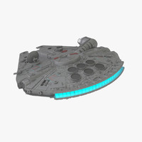 3d model millennium falcon