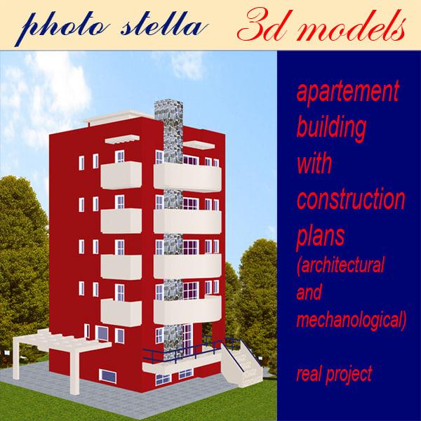 building apartments 1 3d model