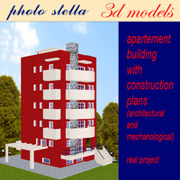 building apartments 1 3d model