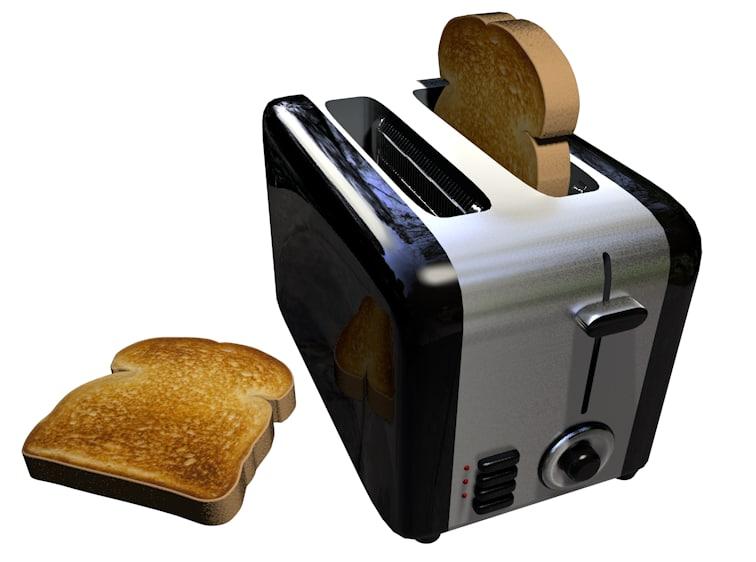 toaster toast 3d 3ds