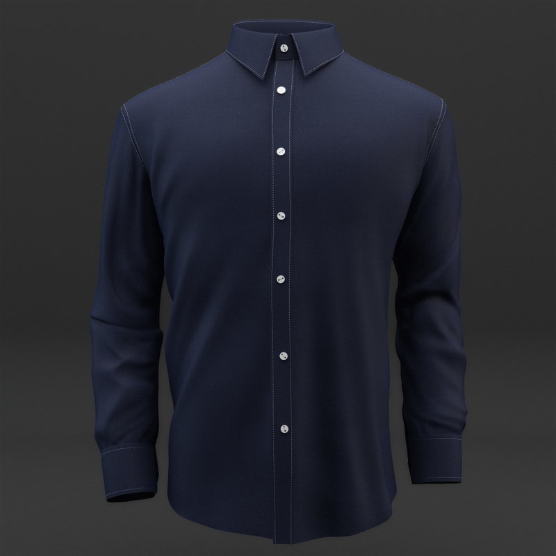 3d model of shirt mens cloth