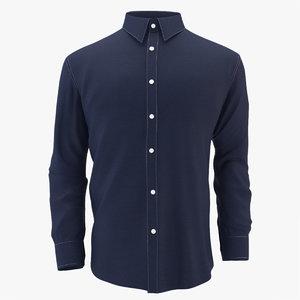 3d model of shirt mens cloth