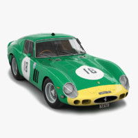engine ferrari 250 gto 3d model