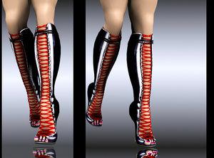 boot strap 3d model